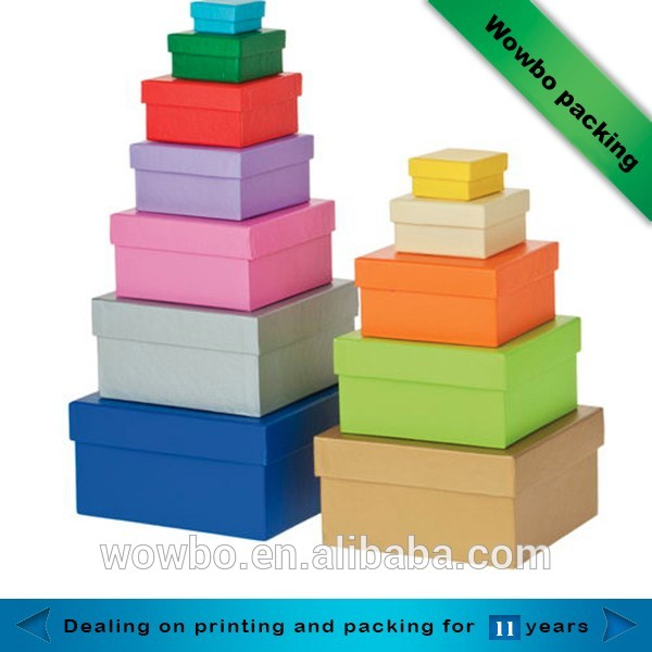 Wowbo customized printed gift packaging box with lid