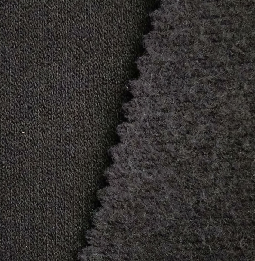 100% cotton Flame retardant Knitted Fleece fabric