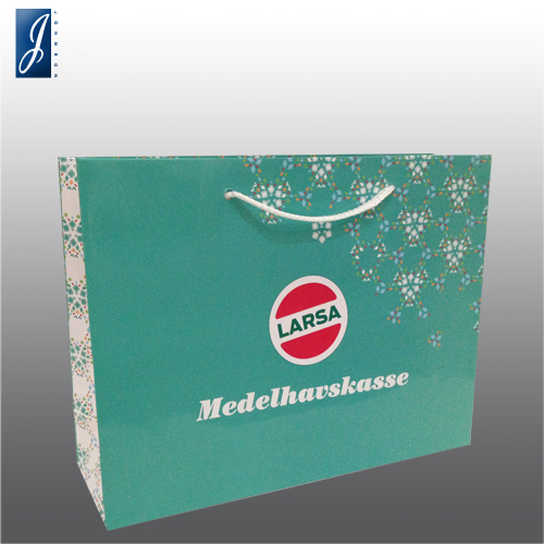 Customized medium paper bag for LARSA