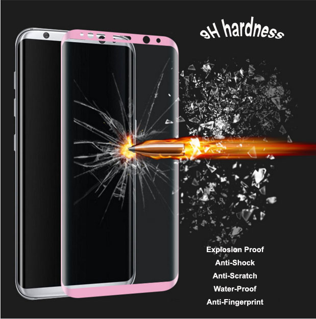 Accept OEM For samsung Galaxy s8 tempered glass screen protector hot bending 3D curved s8 japanese a