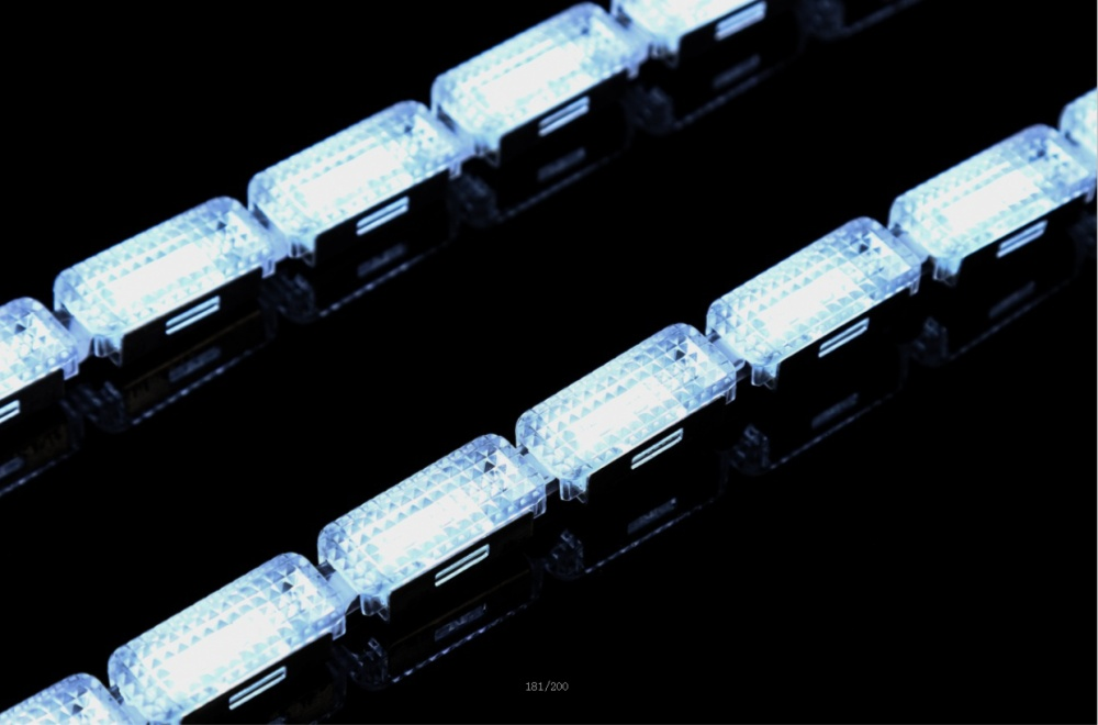 High brightness led crystal strips Indicators Turn Signals, with flowing Amber function, horse runni