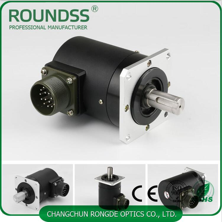 66mm Diameter Rotary Spindle Encoder Optical 15mm Solid Shaft