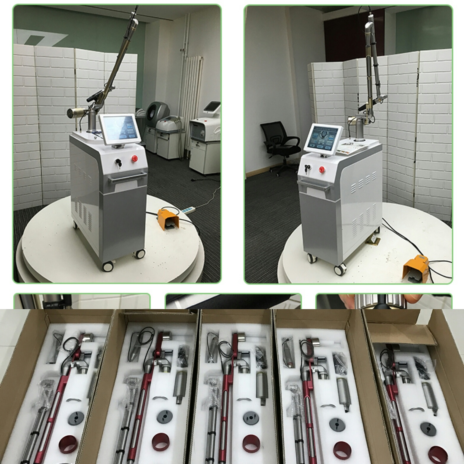 Korean laser arm Q switch nd yag laser machine for tattoo removal and freckle removal