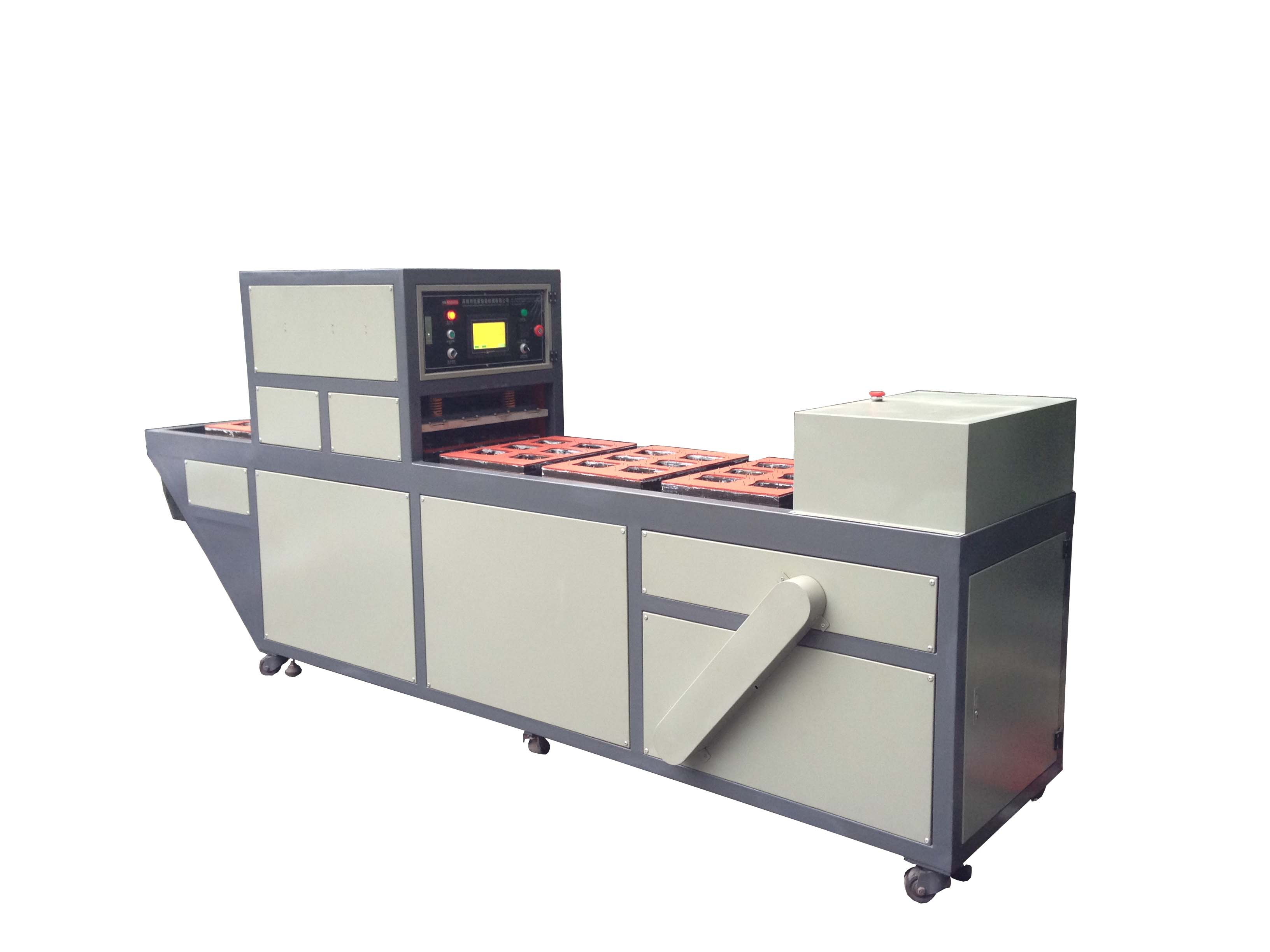 Clamshell and paper sealing blister card packing machine