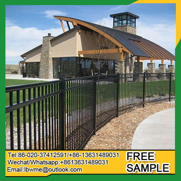 Euro style wrought iron fence metal fence for farm and garden