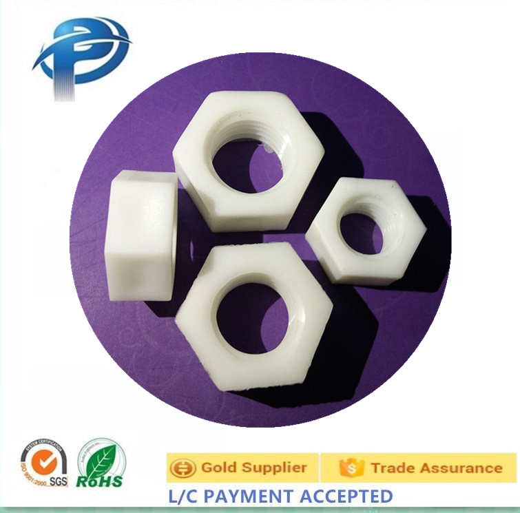 Black or White plastic hex nuts also can be Customized plastic nuts