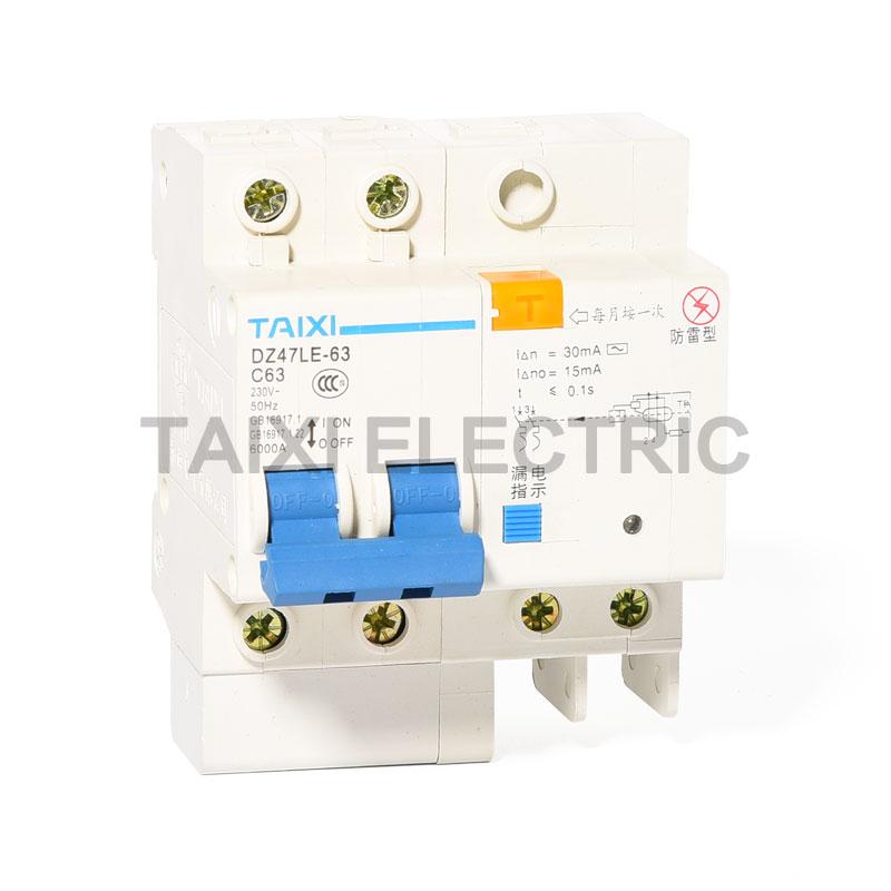DZ47LE-63 Residual Current Circuit Breaker (ELCB)