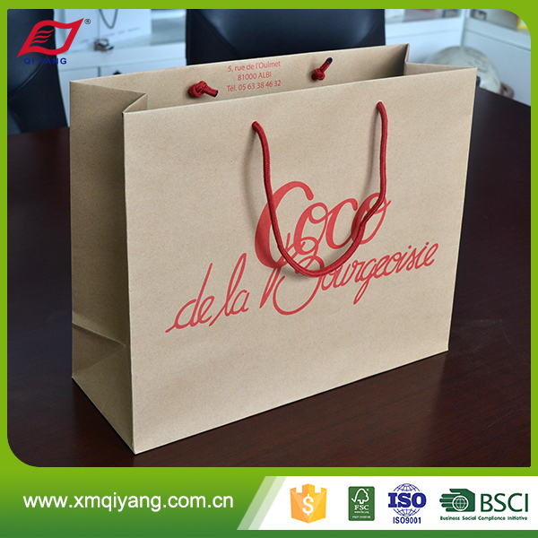 Best quality cheap custom kraft paper shopping bag manufacturers