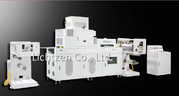 UV curing machine, roll to roll type