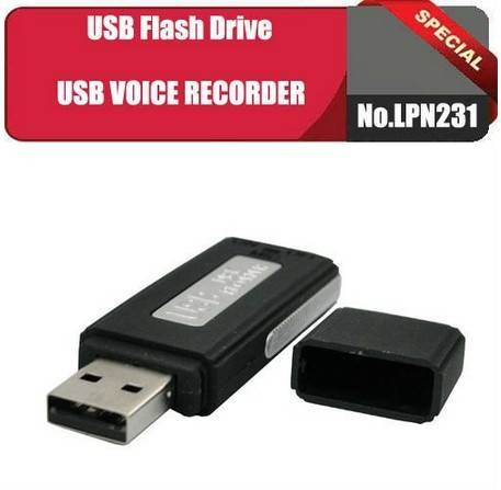 SK-868 2 in 1 USB disk recorder with Built-in 4GB memory can be used as a USB disk and a voice recor