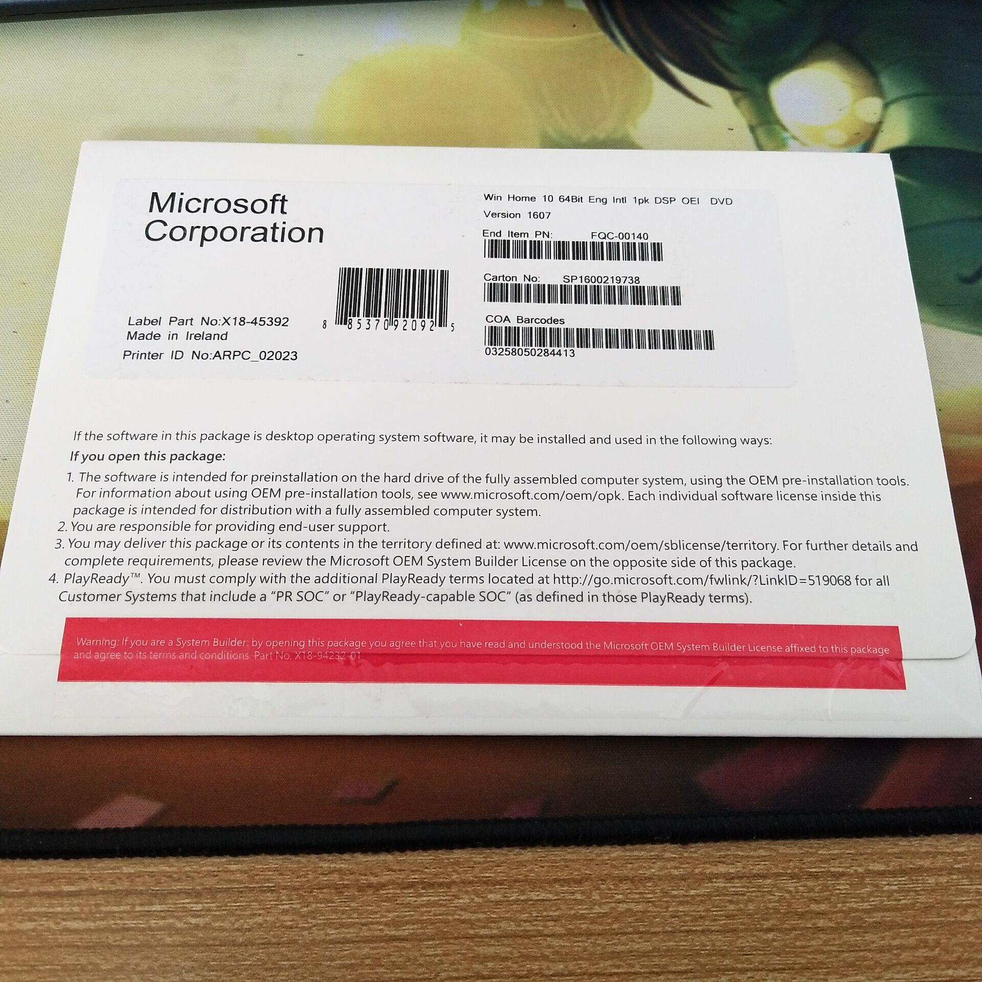 wholesale win 10 home oem PKC include CD