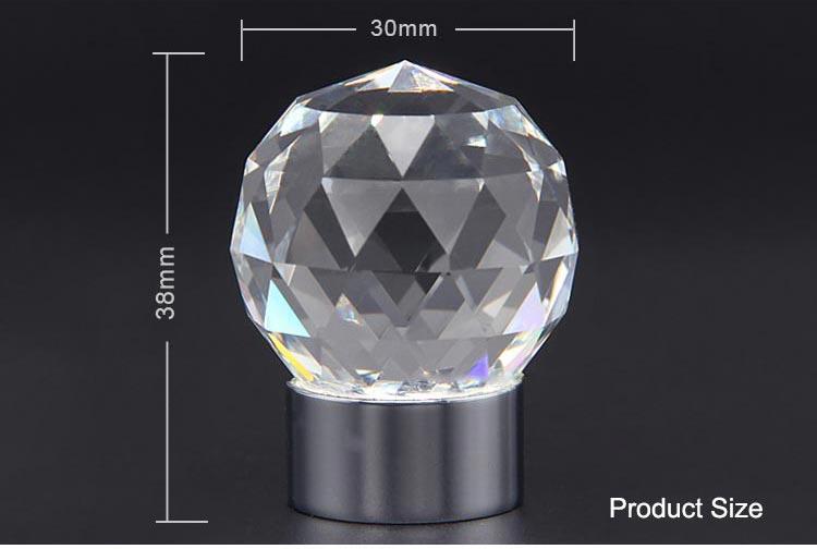 Clear Diamond Chrome Cabinet Pulls