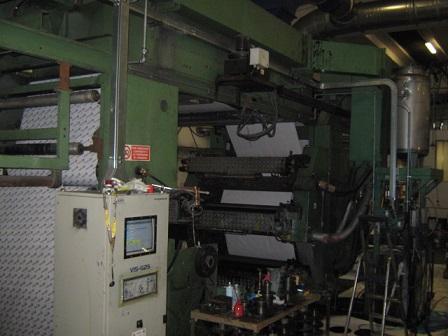 Stack type 6 color flexo printing machine