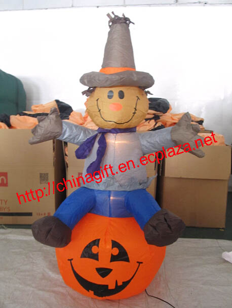 120cm Halloween Inflatable Scarecrow on Pumpkin