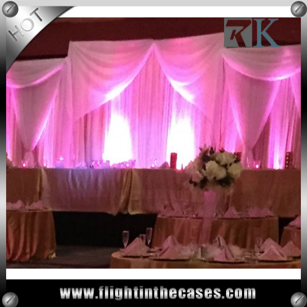 RK wholesale pipe and drape wedding stage decoration