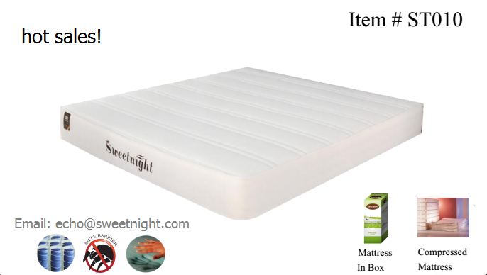 OEM pocket spring hotel mattress, soft comfortable roll up mattress