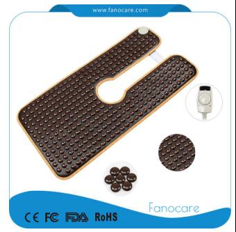 Neck Massager Electric Heating Physiotherapy Shoulder Mat with Tourmaline Stones