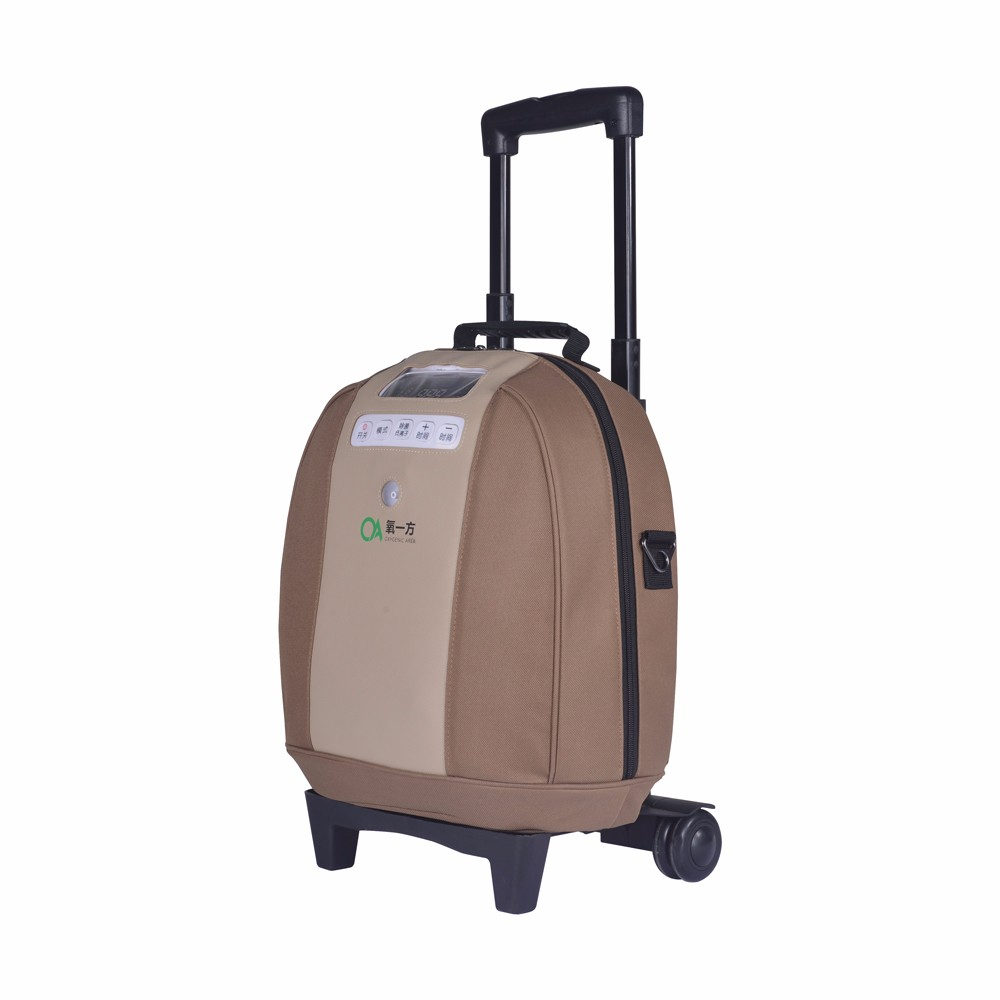 5L Portable Oxygen Concentrator with Battery and Trolley Bag