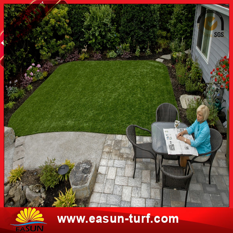 Standard landscape garden decorative artificial turf synthetic grass-Donut