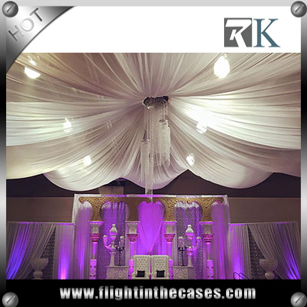 RK wedding decoration canopy backdrop pipe and drape for wedding