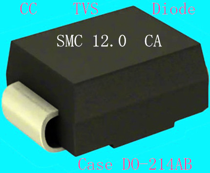 Electronic Parts 1500W 5-440V Do-214AB Case TVS Chip Rectifier Diode SMCJ12A/CA