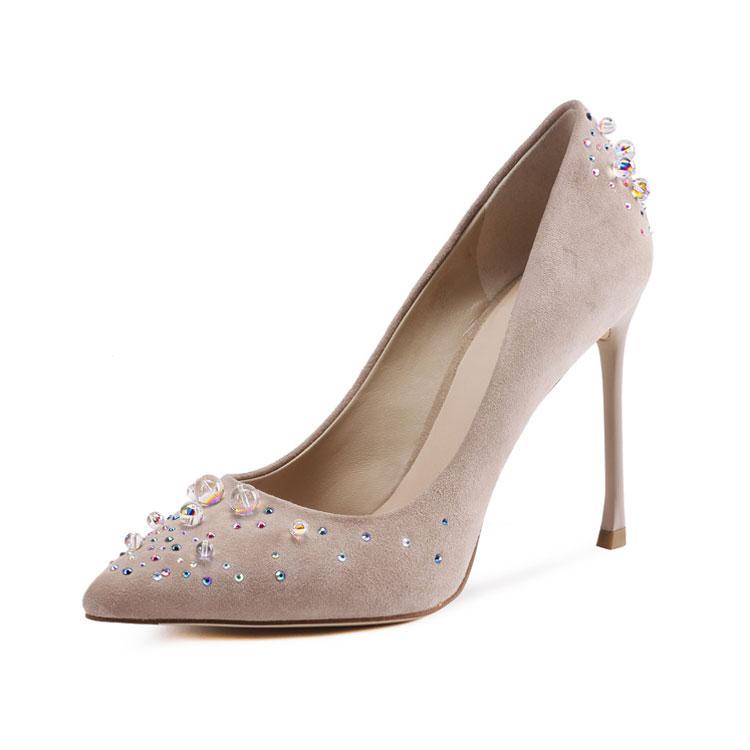 bride shoes wedding luxury high heel shoes women 2017