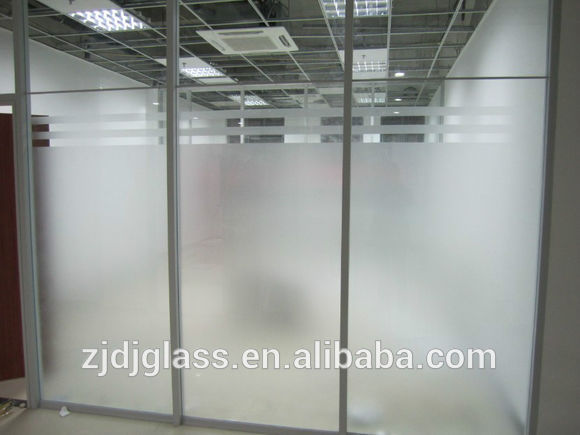 Frosted tempered glass factory supply
