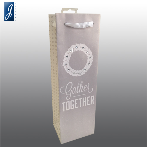 Customized wine packaging paper bag for wheel