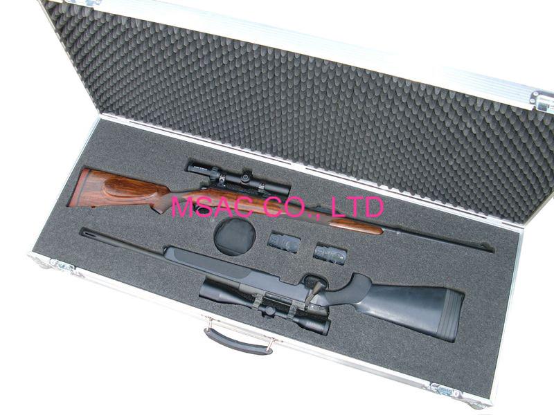 Aluminum Gun Carry Cases with foam