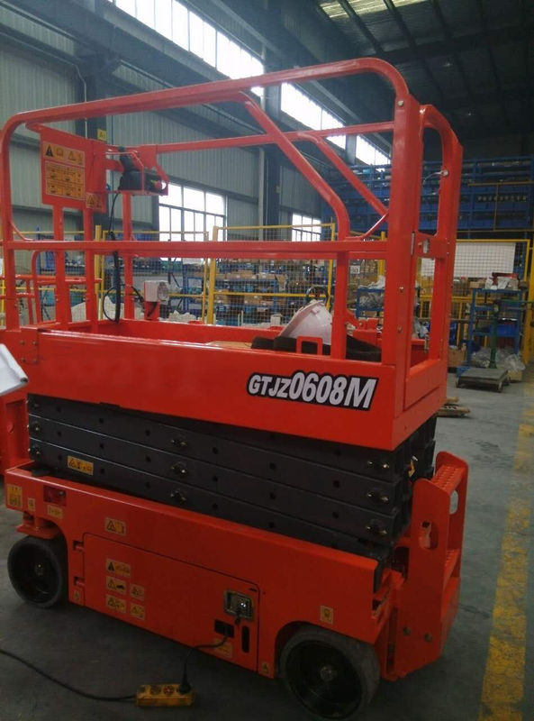 Scissor Lift Man Lift with 6m Platform Height 230kg Load Capacity