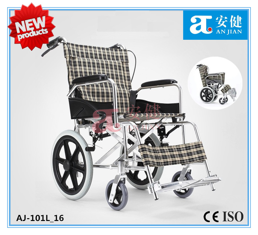 AJ-101L_16 Deluxe lightweight portable aluminum wheelchair