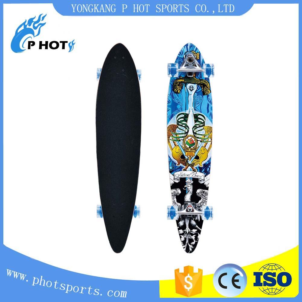 Four skateboard 41 inch long board skateboard 9 layer Chinese Maple skate board skateboard