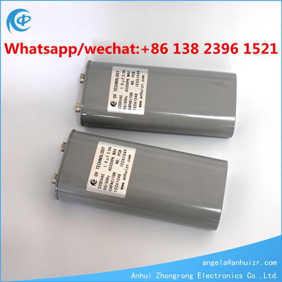 3000VAC 1.05UF 3200VAC 1.9UF UV Lamp Capacitor High Voltage Capacitor For UV
