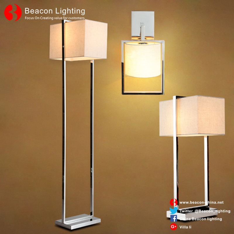 factory wholesale 201/304 stainless steel table lamp with USB port socket for hotel guest room