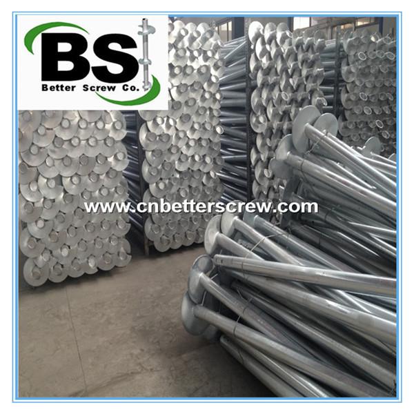 galvanized steel helical pile