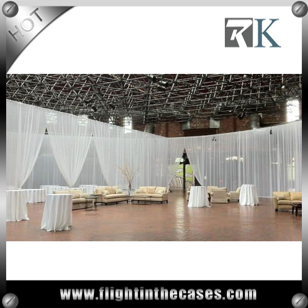 RK wedding decoration stage backdrops white backdrop pipe and drape for wedding