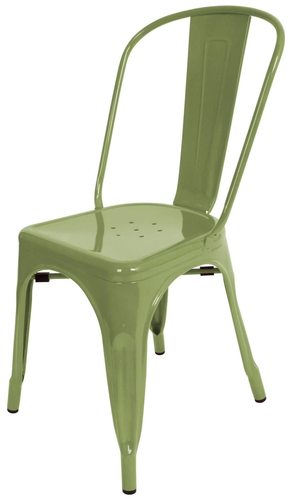 Marais Metal Dining Chair/ Green Marais Tolix Chair /Green Tolix Dining  Metal Chair