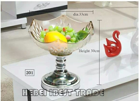 Glass Fruit Plate(Pot) in European style