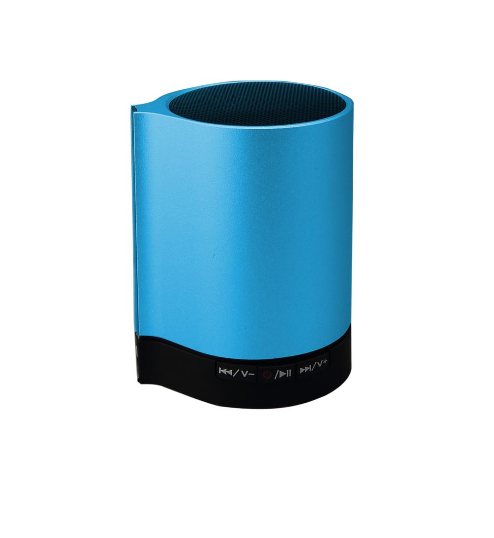 Sleek Metal Body Small Bluetooth Speaker Single Speaker Support TF Card