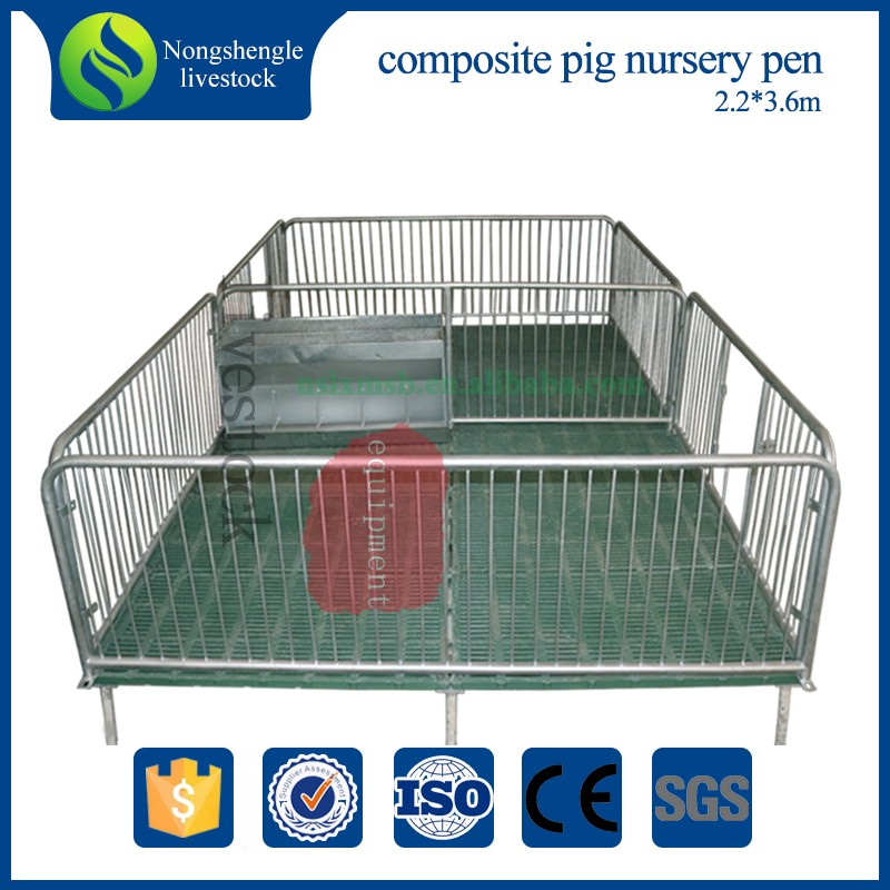 Pig conservation bed piglet hot dip galvanizing nursery crate