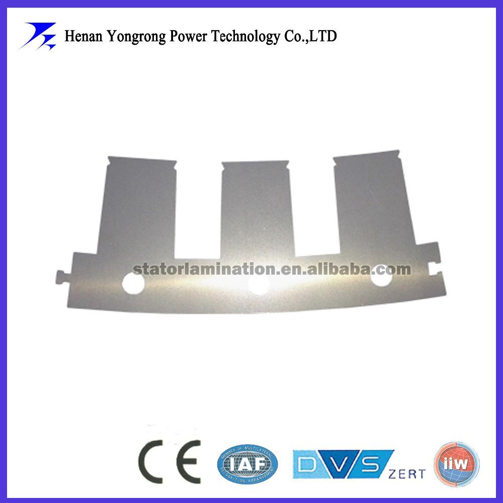 Electric dc motor stator and rotor segement lamination