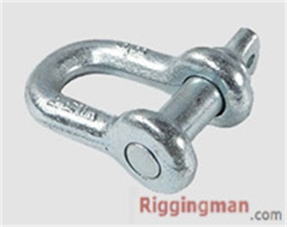 ROUND PIN ANCHOR SHACKLE U.S TYPE,drop forged