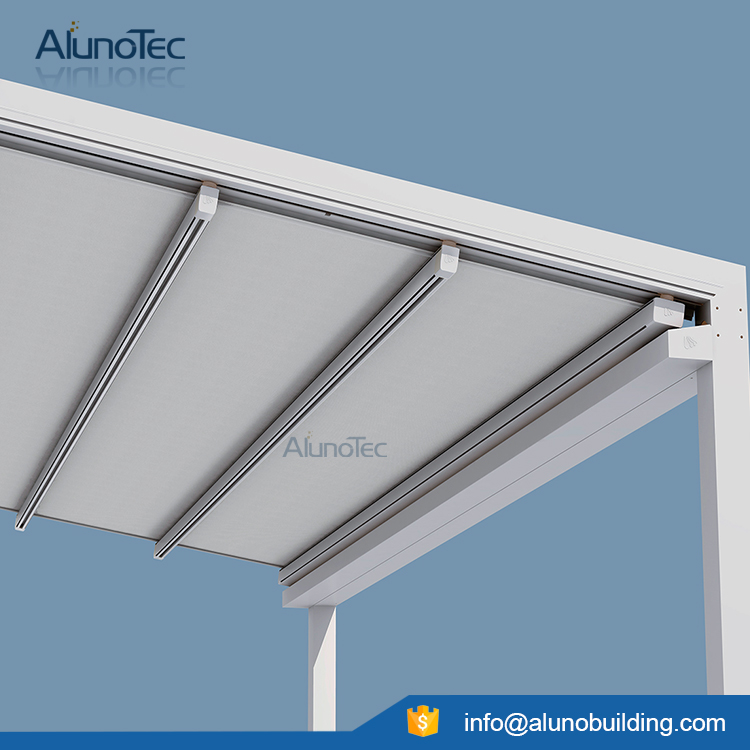 Outdoor Motorized Aluminum Sun shades Retractable Roof Awning
