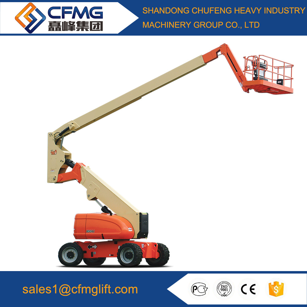 12m self propelled articulated boom lift/ telescopic boom lift/high aerial work platform