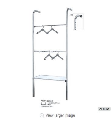 Wholesale clothes shop display rack double-deck storage rack