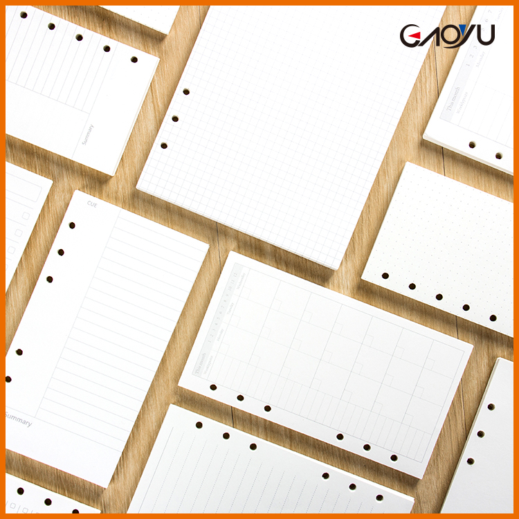 A5 A6 A7 45 pages Rectangle Wholesale Price Simple Loose-leaf core notebook