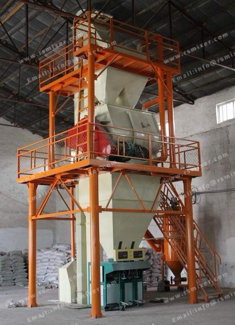 Tower type plant automatic tile adhesive dry mortar production line. Dry mortar mixer machinery