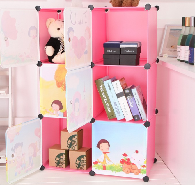 2015 new design hot sexy plastic Magic wardrobe Storage folding portable wardrobe