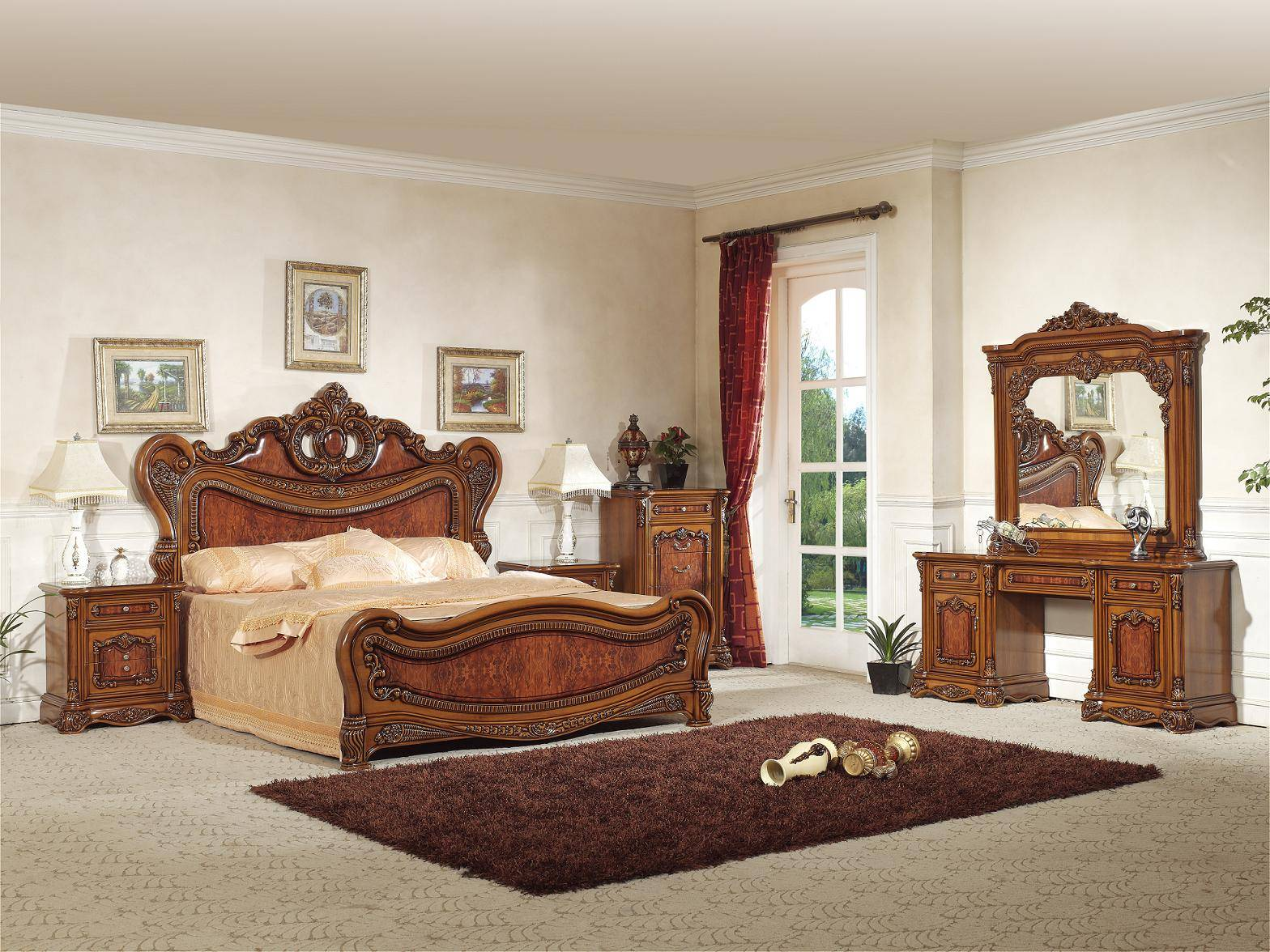Spanish style bedroom furniture foshan shunde excellence for Spanish style bed