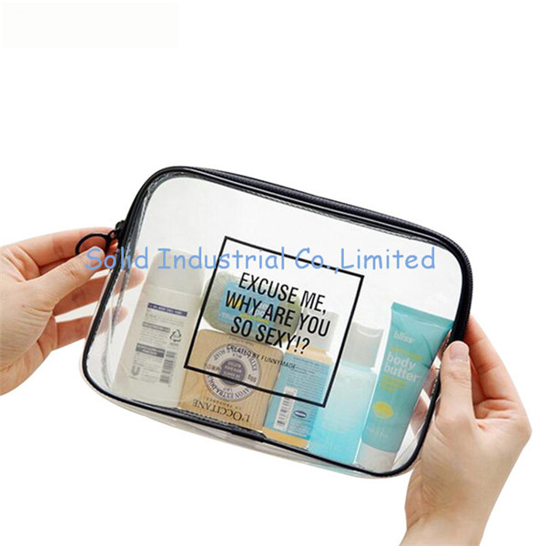 PVC Transparent Mini Cosmetic Organizer Bag Waterproof Clear Pouch Makeup Bags Cosmetic Accessories